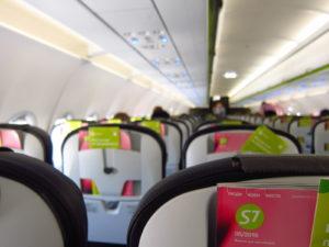 S7航空の機内