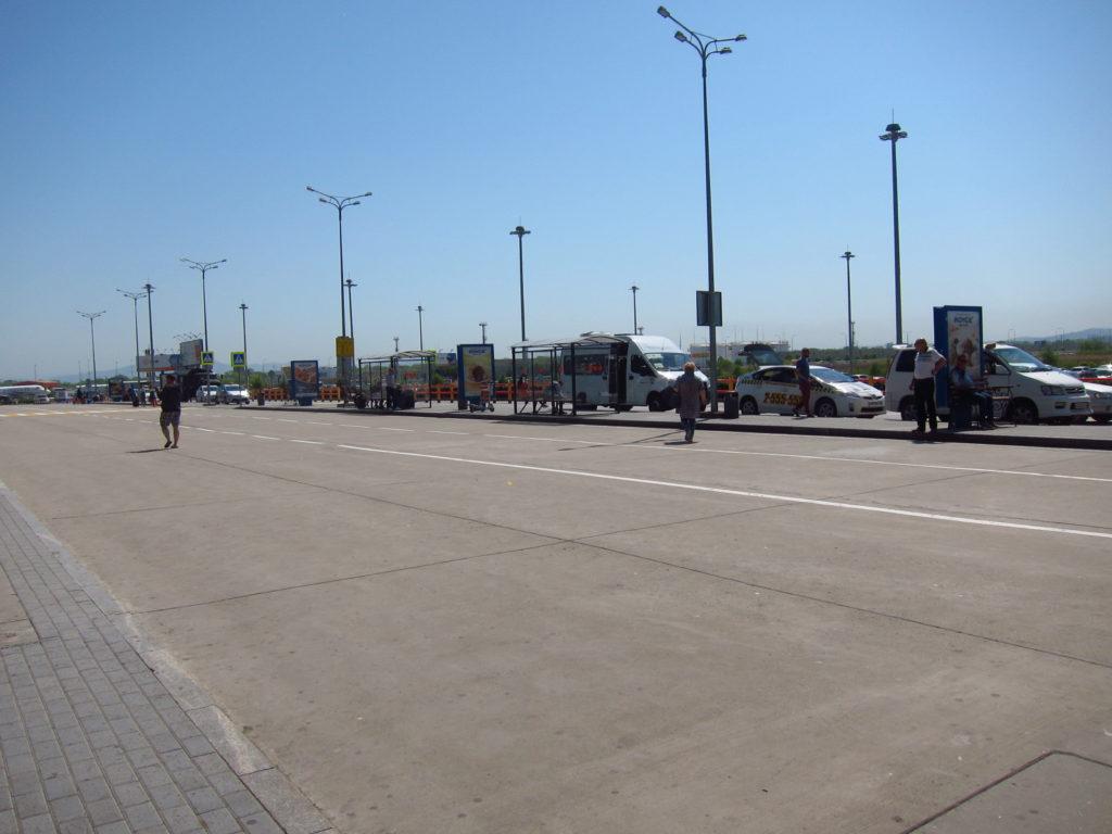 ウラジオストク空港バス乗り場