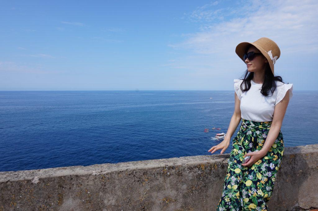 ドブロブニクの城壁からの海
