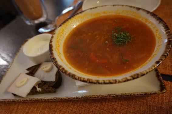 Savoyで食べたボルシチ