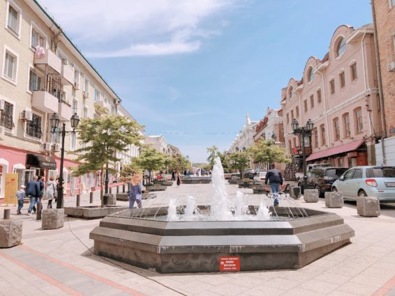 ウラジオストクの噴水通り
