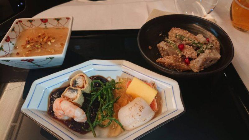 ANAロンドン便ビジネスクラスの和食
