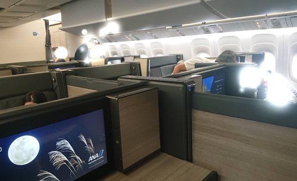 ANAロンドン便ビジネスクラスの座席