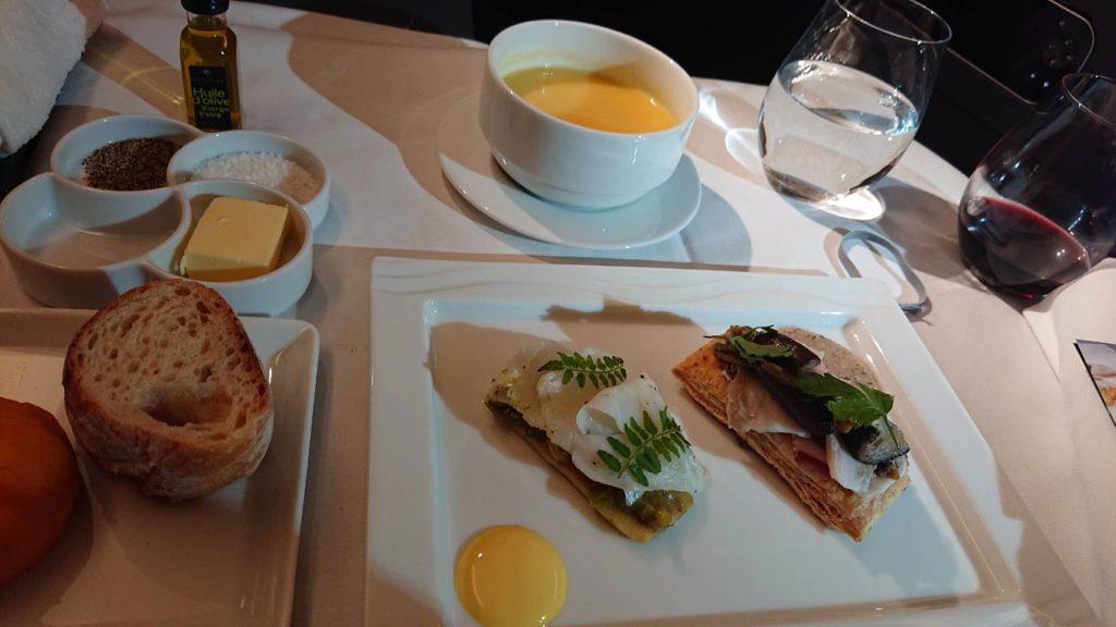 ANAロンドン便ビジネスクラスの機内食