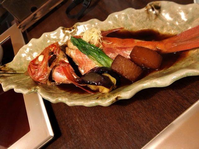 東府や夕食金目鯛
