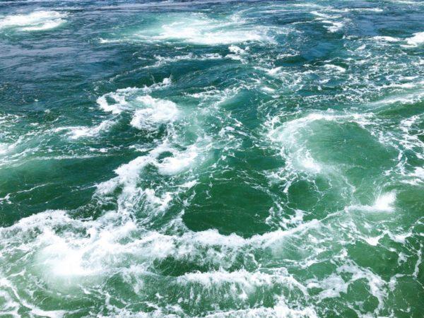 鳴門の渦潮を船から2